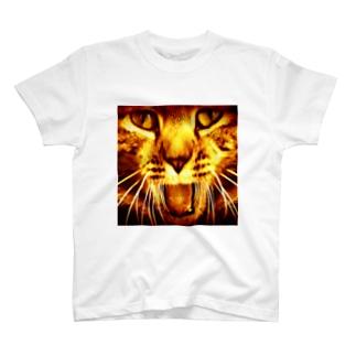 猫のポッキーくん(赤) T-shirts
