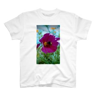 蜂と花 T-shirts