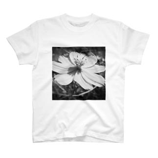 コスモス(Black and White) T-shirts