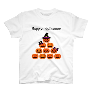 ハロウィンかぼちゃピラミッド T-shirts