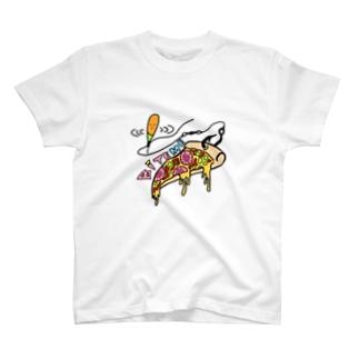 バイトミー ピザTシャツ T-shirts