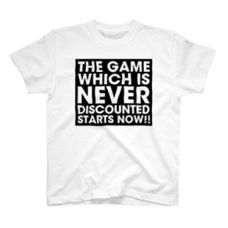 The game which is never discounted starts now. T-shirts