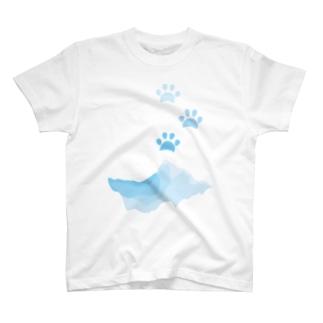 水遊びした肉球 T-shirts