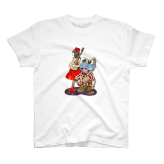 ギター少女とガタ T-shirts