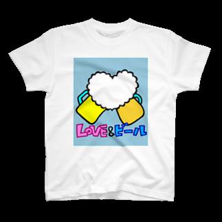 みつ公式ショップのLOVE&ビール T-shirts