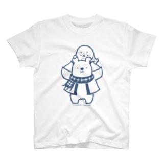 「ナンちゃん&ホクさんの肩ぐるまTシャツ」 T-shirts