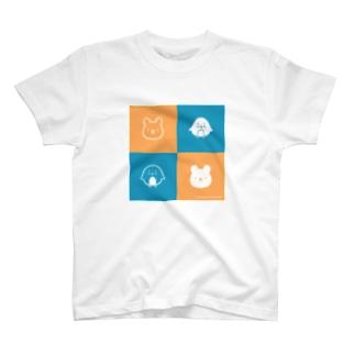 nan&hokuの「ナンちゃん&ホクさんの二色Tシャツ」 T-shirts