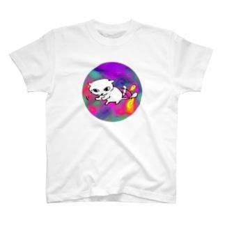ねこすけ 禍々 T-shirts