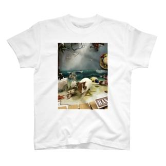 浜辺のモルモットゆいちゃん T-shirts