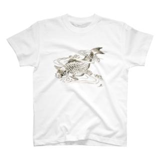 Poisson dans une vague.:波の中の魚。(b14506646) T-shirts