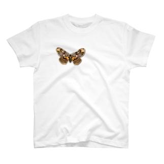 いたずらデザイン(ちょっと蛾ついてますよ) T-shirts