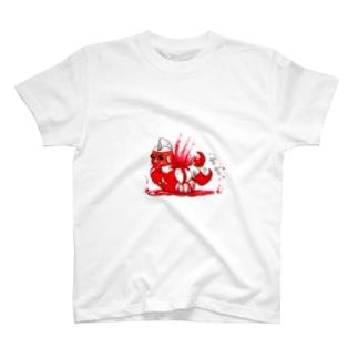 後ろ向きマン殉職後 T-shirts