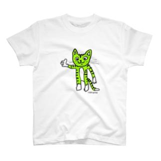 スーパーウルトラポジティブニャーンコ T-shirts