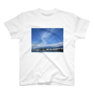富士山と雲 T-shirts