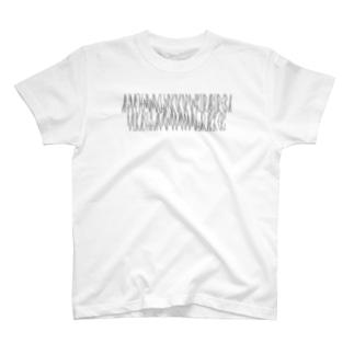 「百人一首 43番歌 権中納言敦忠」カナクギフォントL T-shirts