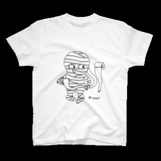 いちよんごのべんじょみいら(細フチドリ) T-shirts