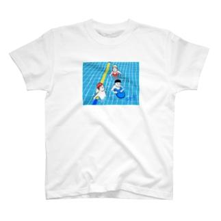 【チチチアニメーション研究シリーズNo.24】の「区民プール」 T-shirts