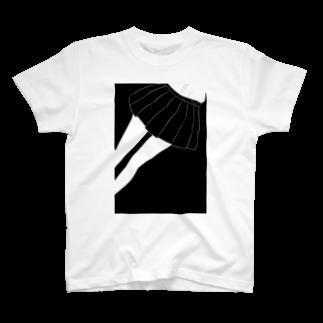 piorのスカート(モノクロ) T-shirts