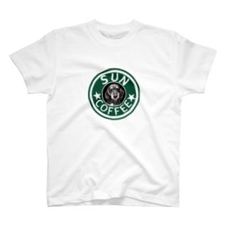 ミニチュアダックスフンド(スタバ風、SUN) T-shirts