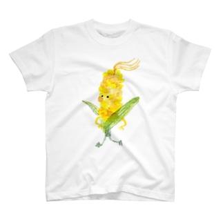 旬はすぎたけど…とうもろこしくん T-shirts