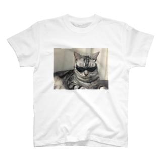 ブラックにゃおたむ T-shirts