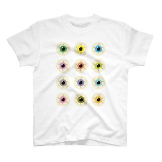 カラフル目玉 T-shirts