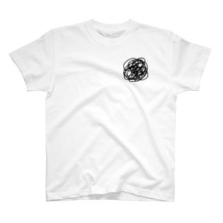心 モヤモヤ 病み モノトーン T-shirts