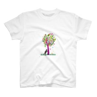 サンプル=木の下バージョン。 T-shirts