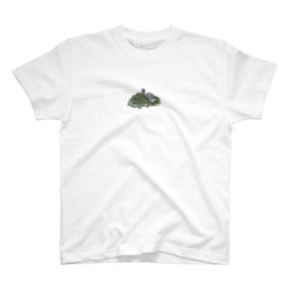 チモシーに埋もれるうさぎさん スクワーレル T-shirts