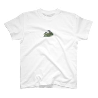 チモシーに埋もれるうさぎさん ダッチ T-shirts