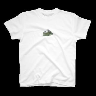 SCHINAKO'Sのチモシーに埋もれるうさぎさん ダッチ T-shirts
