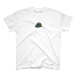 チモシーに埋もれるうさぎさん ブラック T-shirts