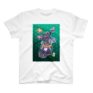 王子の狐(黒) T-shirts