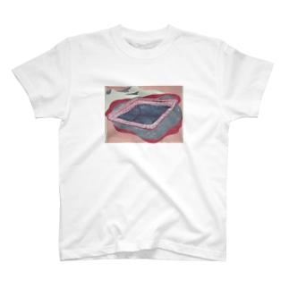 poolと砂漠 Tシャツ