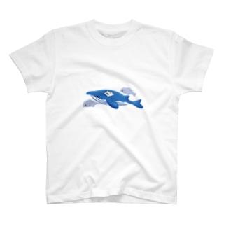 クジラとねこ T-shirts