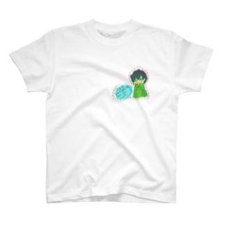 ゲームが好きな少年 ワッペン風 T-shirts