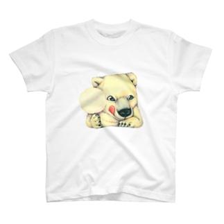 シロクマ×綿菓子 T-shirts