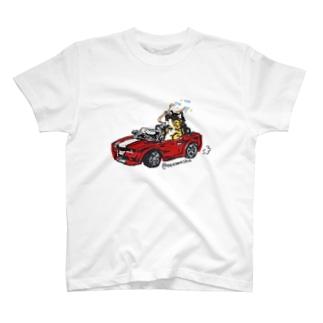 わるそうなネコ オープンカー T-shirts