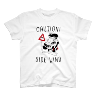 CAUTION! SIDE WIND T-shirts