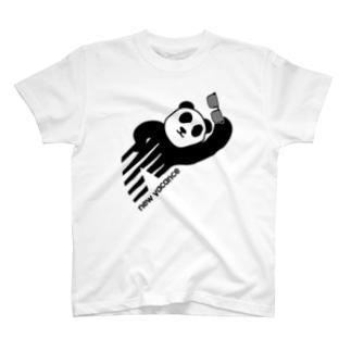 ニューバカンス 斜めパンダバージョン 2018秋冬モデル T-shirts