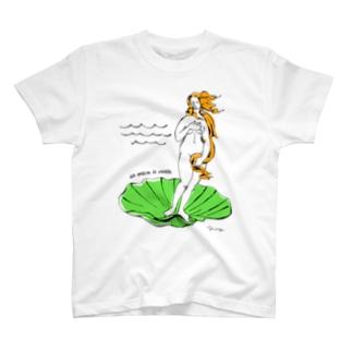 ヴィーナスの誕生 T-shirts