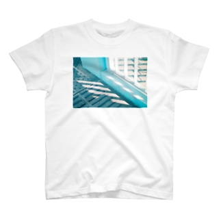 青と斜め T-shirts