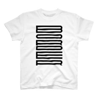 ボーダーに見えるBORDER T-shirts