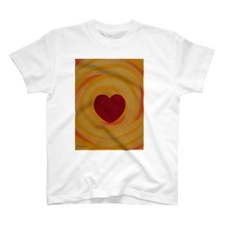 燦々ハート T-shirts