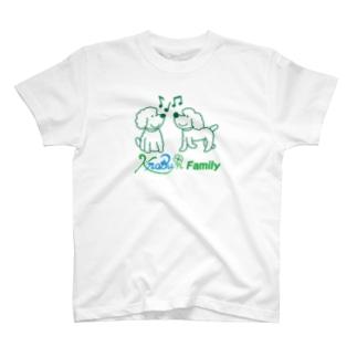 ツインズ(プードル)ロゴ入り T-shirts