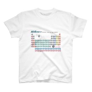 エイリアンズTシャツ/元素周期表 T-shirts