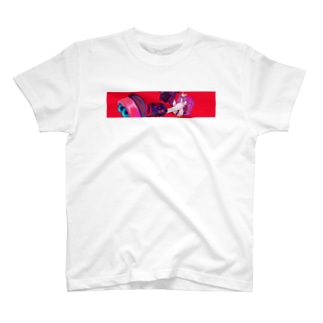 LaLa_rr Red line T-shirts