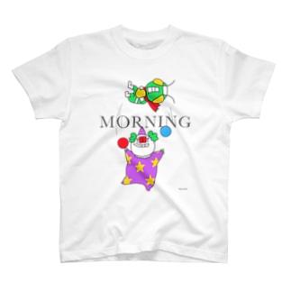 朝ピエロとお昼ライダー T-shirts