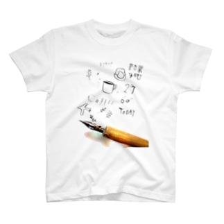 カリグラフィー T-shirts