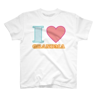 フォーヴァのI LOVE GRANDMA T-shirts